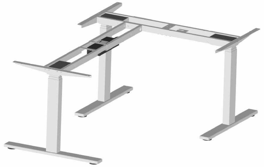 Stelaż biurka trójnożnego